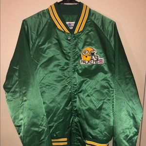 Vintage Green Bay Packers Satin Jacket